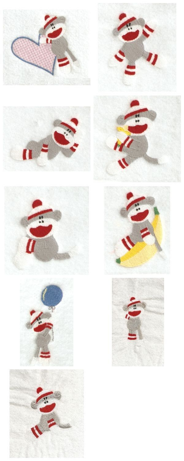 Sock Animal Embroidery Designs Sock Monkey Art Pic 7 Www Designsbysick Com 137 Kb 600 Machine Embroidery Designs Animal Embroidery Designs Embroidery Designs
