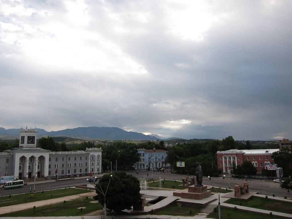 Central City Square Dushanbe Tajikistan Central Asia Tajikistan Central City Central Asia