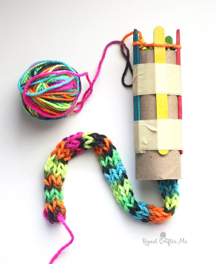 Photo of Cardboard Roll Snake Knitting – Wiederholen Sie Crafter Me