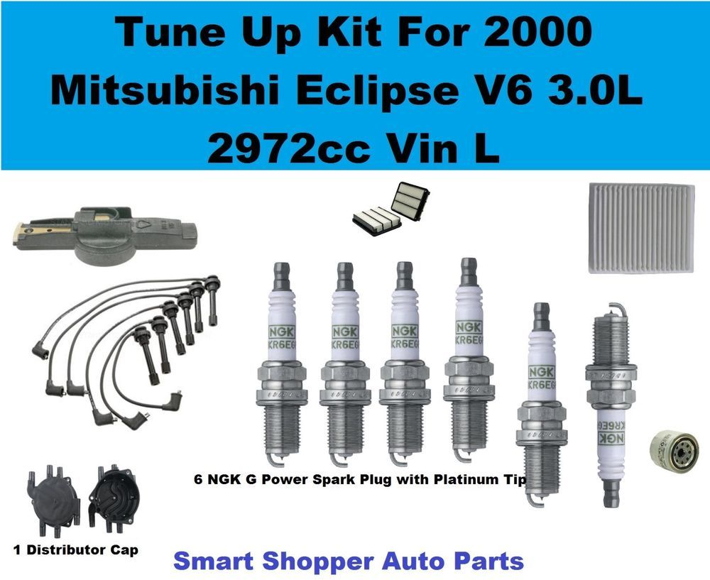 2000 Eclipse 30l Spark Plug Wire Set Air Oi Cabinfilter Mitsubishi Fuel Filter Distributor Cap Rotor Aftermarketproducts