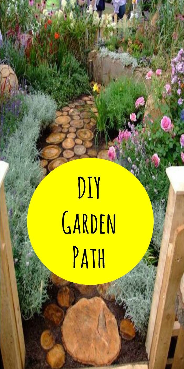 Cute DIY Garden Path Idea! | Garden paths and Gardens