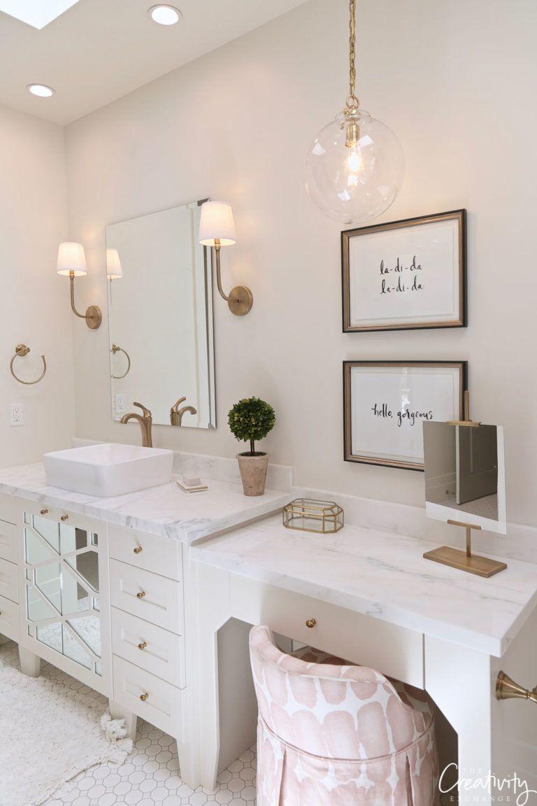 Beautiful European Contemporary Home Tour | Teal bathroom ...