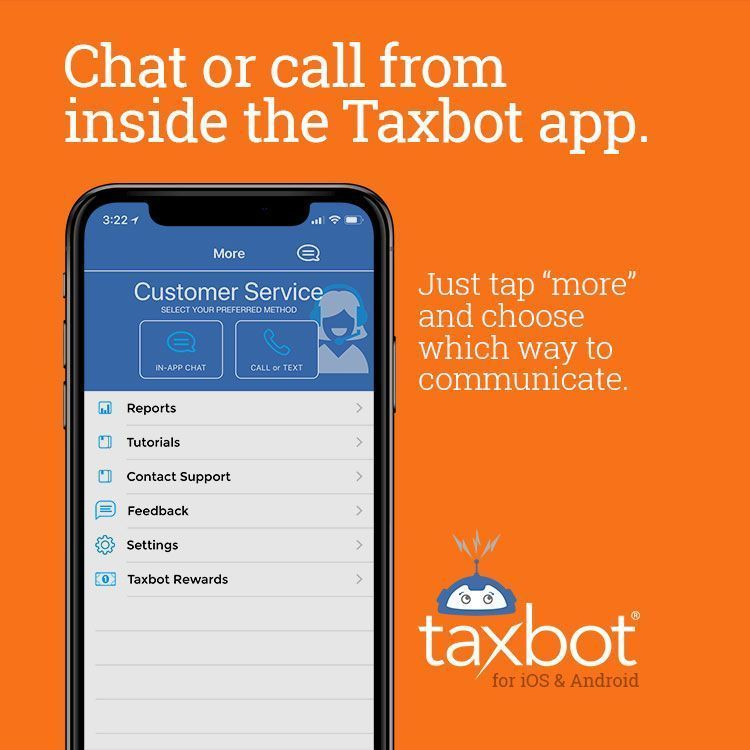 Did you know you can contact taxbot customer service from