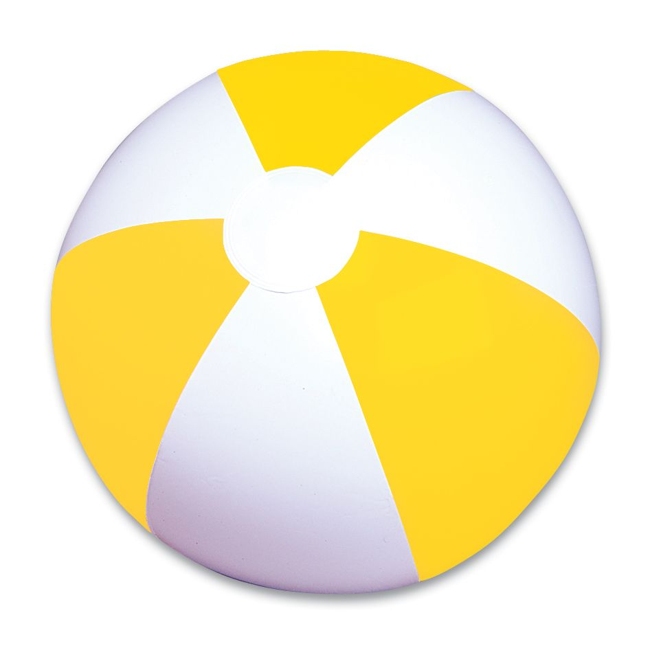 12 Yellow And White Panel Beach Ball With Images White
