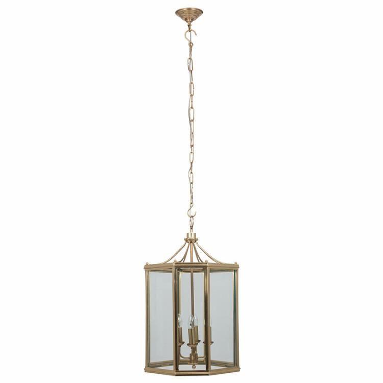 Large Brass Lantern Pendant Allissias Attic Kroonluchter