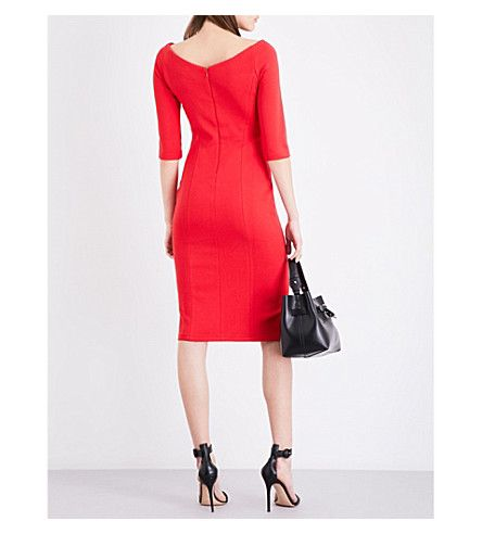 REISS Aimee off-the-shoulder jersey dress | dress | Pinterest