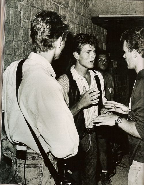A Ha Backstage During Their Concert In Frejus France August 1987