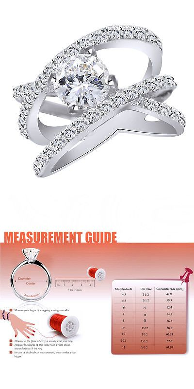 Other Engagement Rings 164308: 3.50Ct 14K White Gold Excellent Round Cut D/Vvs1 Solitaire Fine Engagement Ring BUY IT NOW ONLY: $414.36