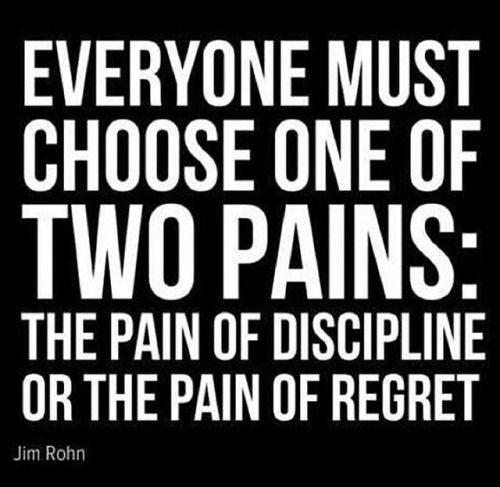 The Pain Of Discipline Or The Pain Of Regret   Fitness Quotes   Get  Motivated, Get Fit!
