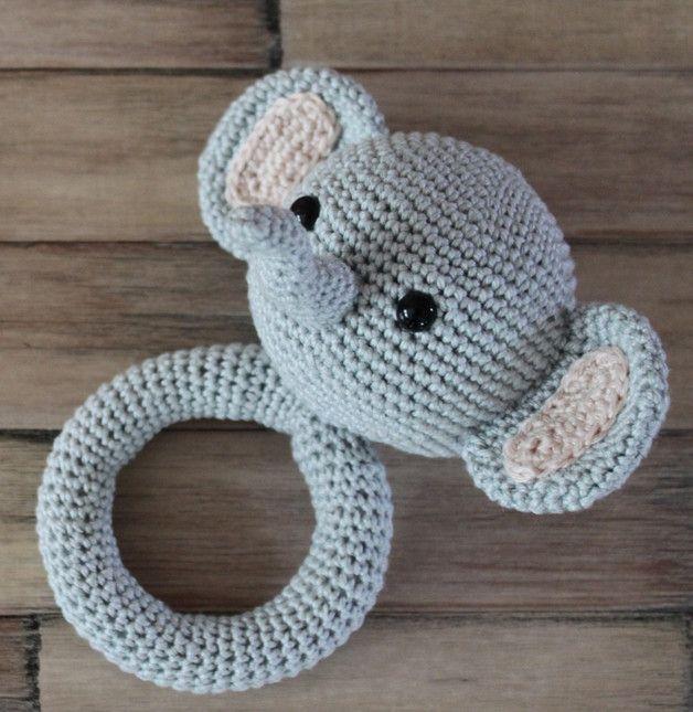 Häkelanleitung Babyrassel Elefant Ella Die Etwas Andere