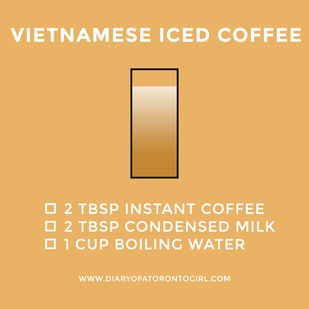 how to make vietnamese iced coffee with instant coffee