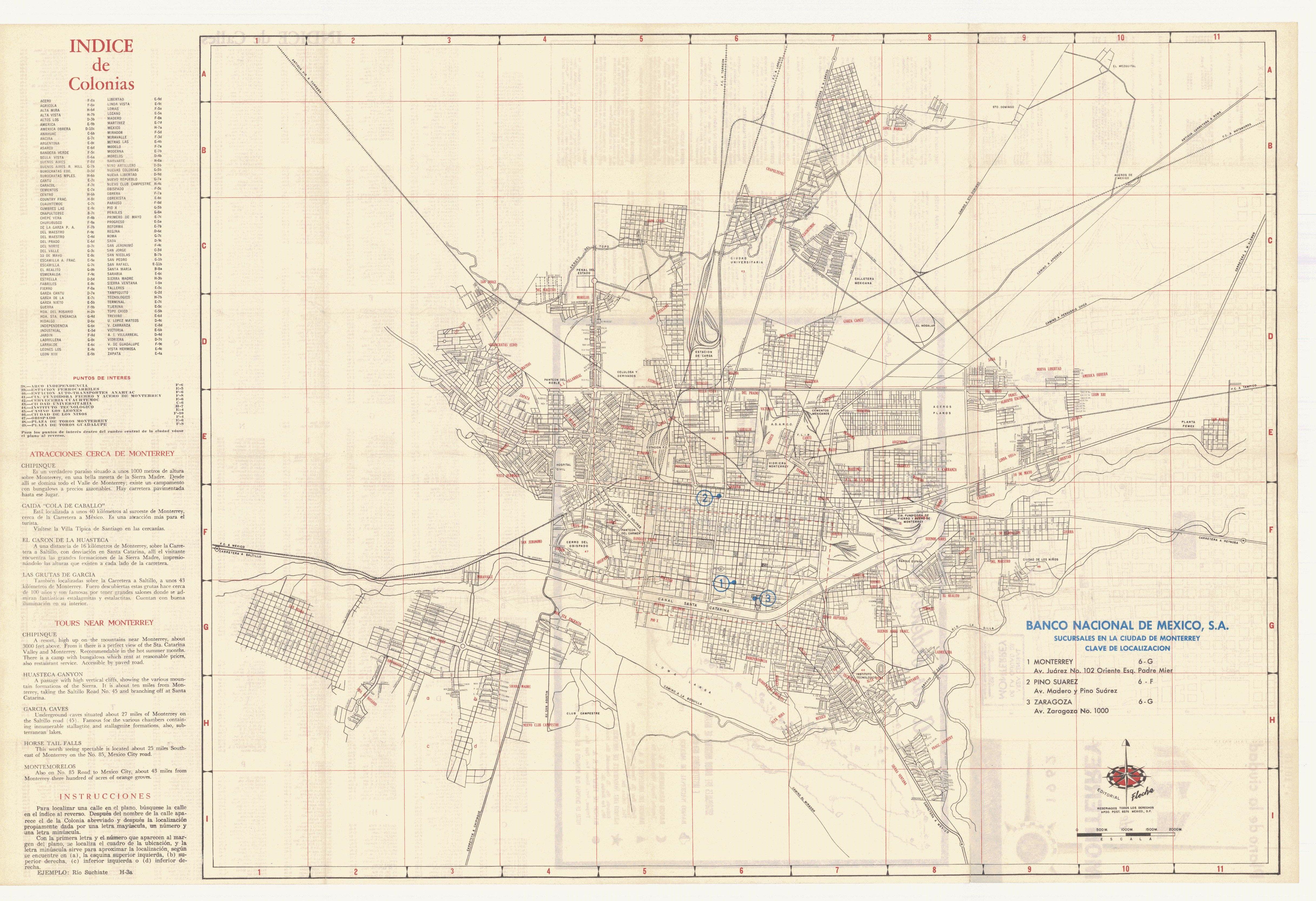 Monterrey Images | Our Top 301 Monterrey Stock Photos ... |Old Monterrey Mexico Map