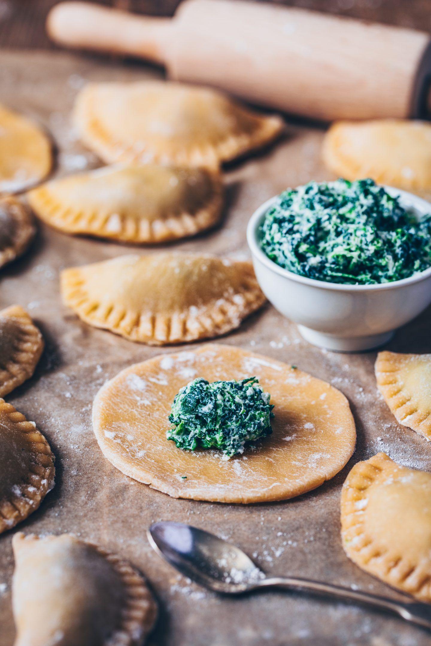 Spinat Ravioli mit Pilzen (vegan) - Bianca Zapatka | Rezepte