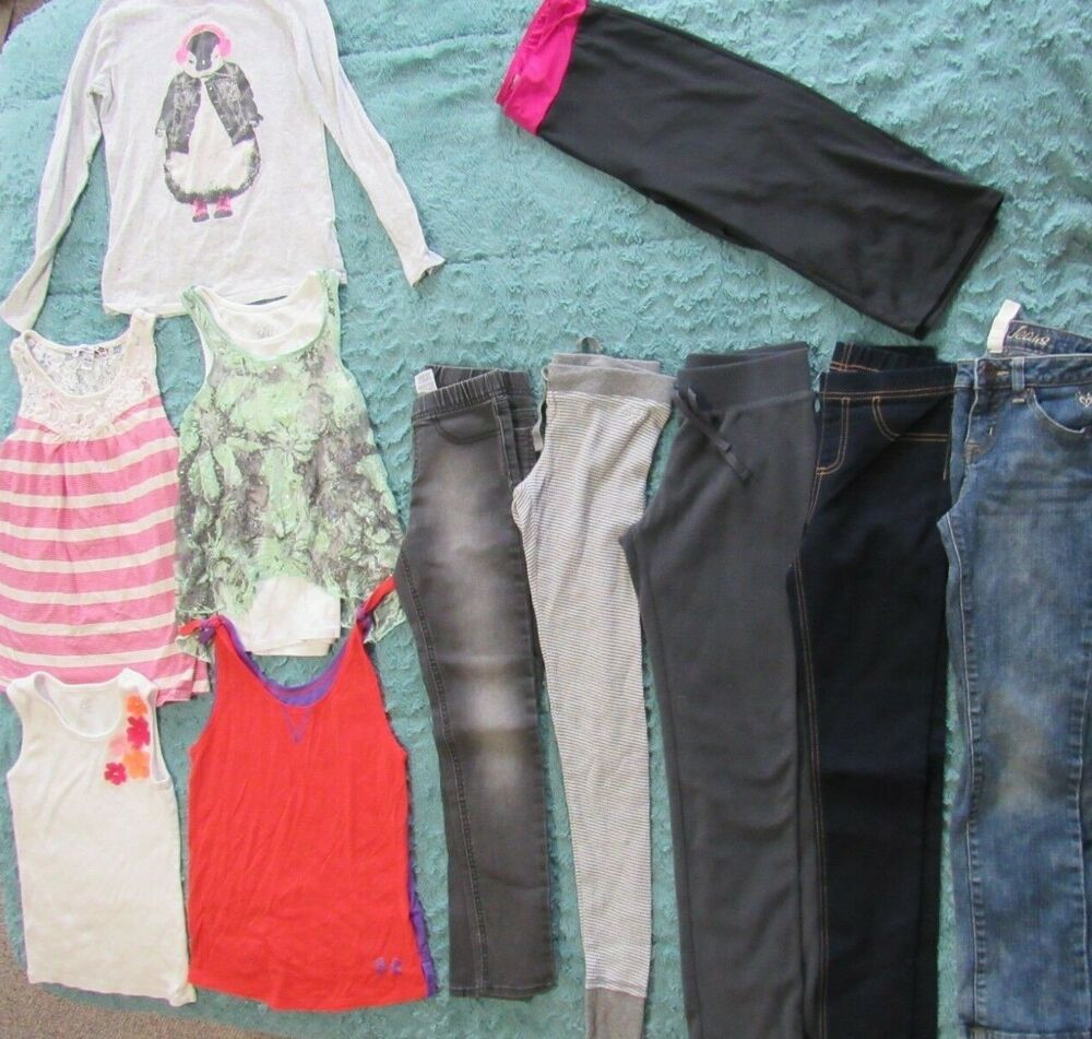 f237c8fbea1f7 Girls Clothing Lot Size 10, 10/12, 12/14 Under Armour Justice Old ...
