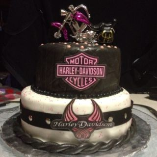 Harley cake might be the closest thing i get cakes Pinterest