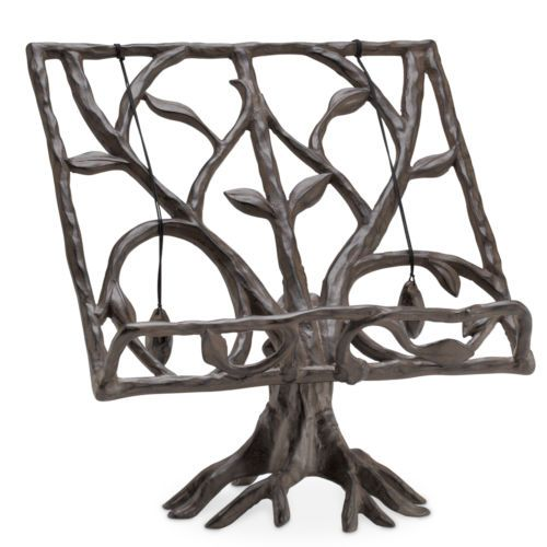 "Tree Twig Cookbook Stand Holder Display Easel Recipes Aluminum Rustic Cabin 12""H 