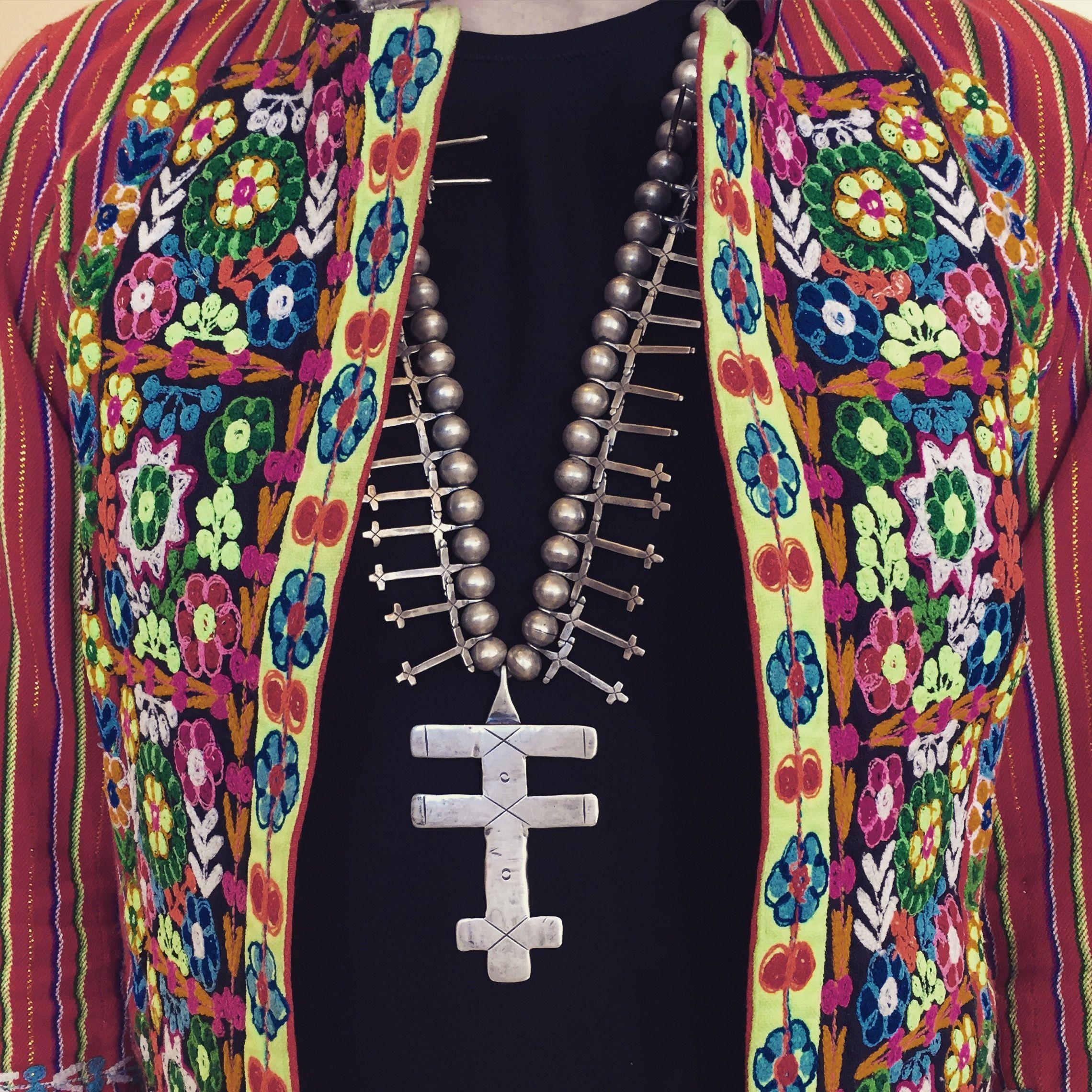 Pueblo cross necklace and bolivian jacket 1860 1930 navajo zuni pueblo cross necklace and bolivian jacket buycottarizona Images