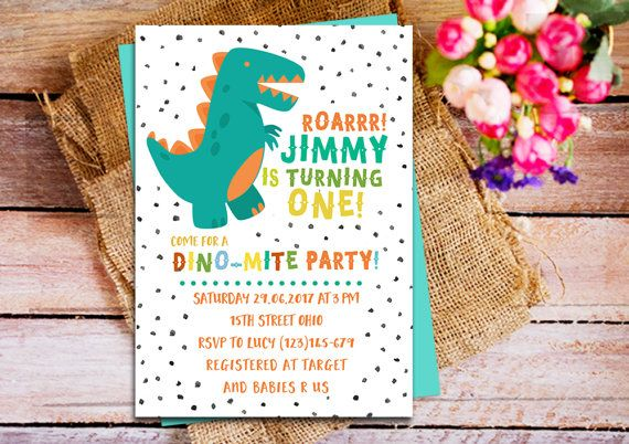 dinosaur birthday invitation dinosaur 1st birthday invitation