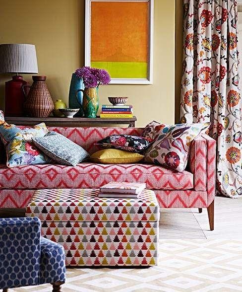 vorhangstoff mit blumenmuster von jane churchill g stezimmer einrichtungsideen und tapeten. Black Bedroom Furniture Sets. Home Design Ideas