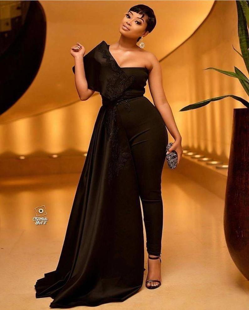 Black Prom Wedding Reception Jumpsuitwomens Party Etsy Black Prom Dresses Fashion Dresses Fashion [ 991 x 794 Pixel ]
