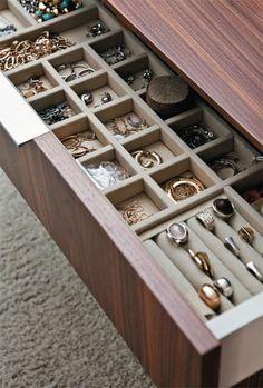 Jewelry Organization Is Master Walk In Closet Island Drawers