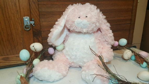 Ganz easter bunny pink and white plush stuffed animal soft and ganz easter bunny pink and white plush stuffed animal soft and cushy toddler giftsbaby negle Image collections
