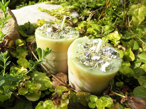 Spell Candles - Two (2) Fairy Visions Loaded Soy Votives for Visitation & Communication with Faeries and Devic Spirits