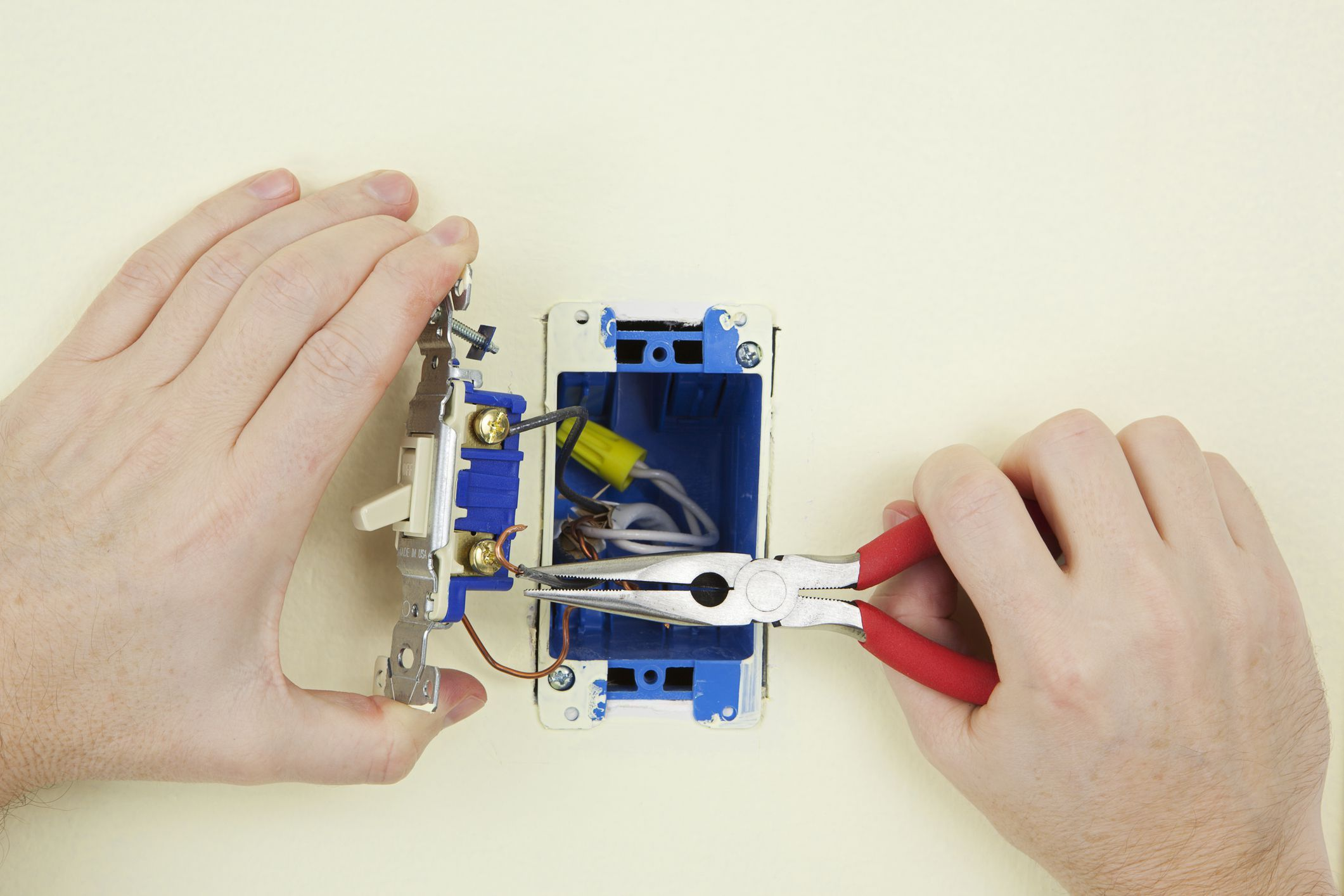 Replacing A Standard Single Pole Light Switch Installing A Light Switch Plastic Electrical Boxes Light Switch