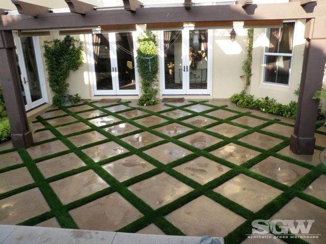 pergola with artificial turf