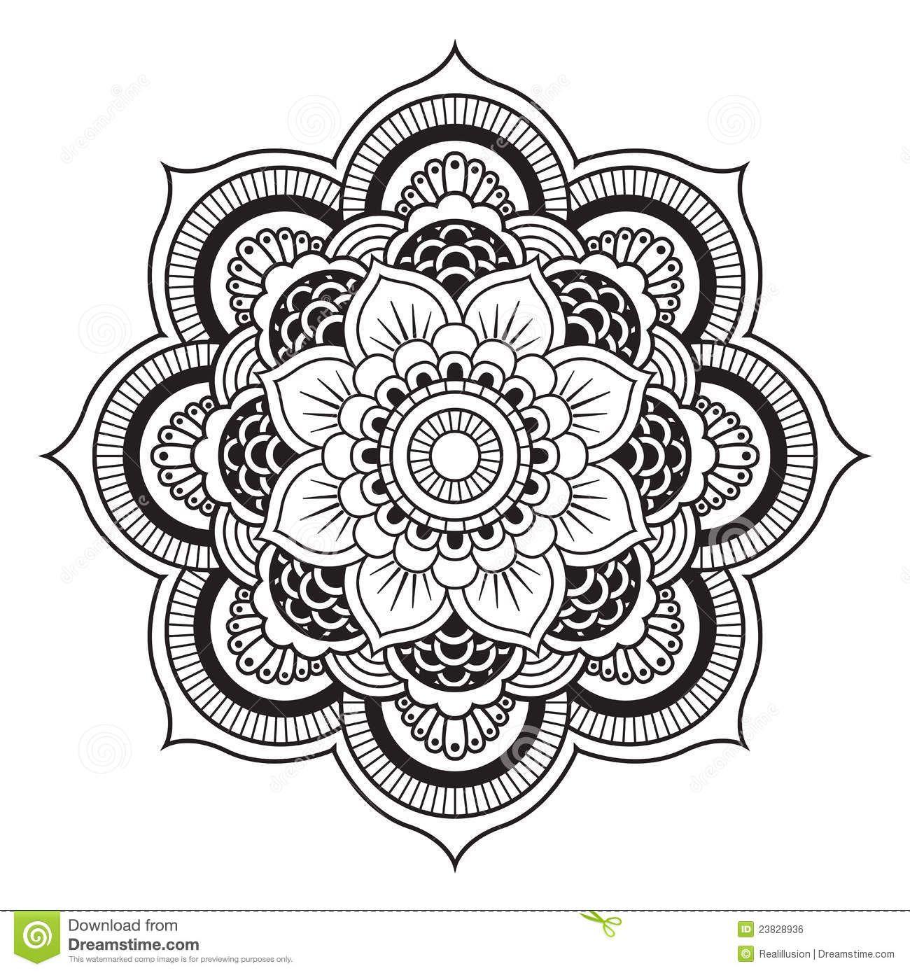 Free Mandala Patterns Fill In Mandala Royalty Free Stock