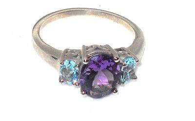 Hard to find - ladies Ring size 10! on @eBay! http://r.ebay.com/yebEhE #ebay 3.00ctw Amethyst Blue Topaz Ring size 10 Christmas In July