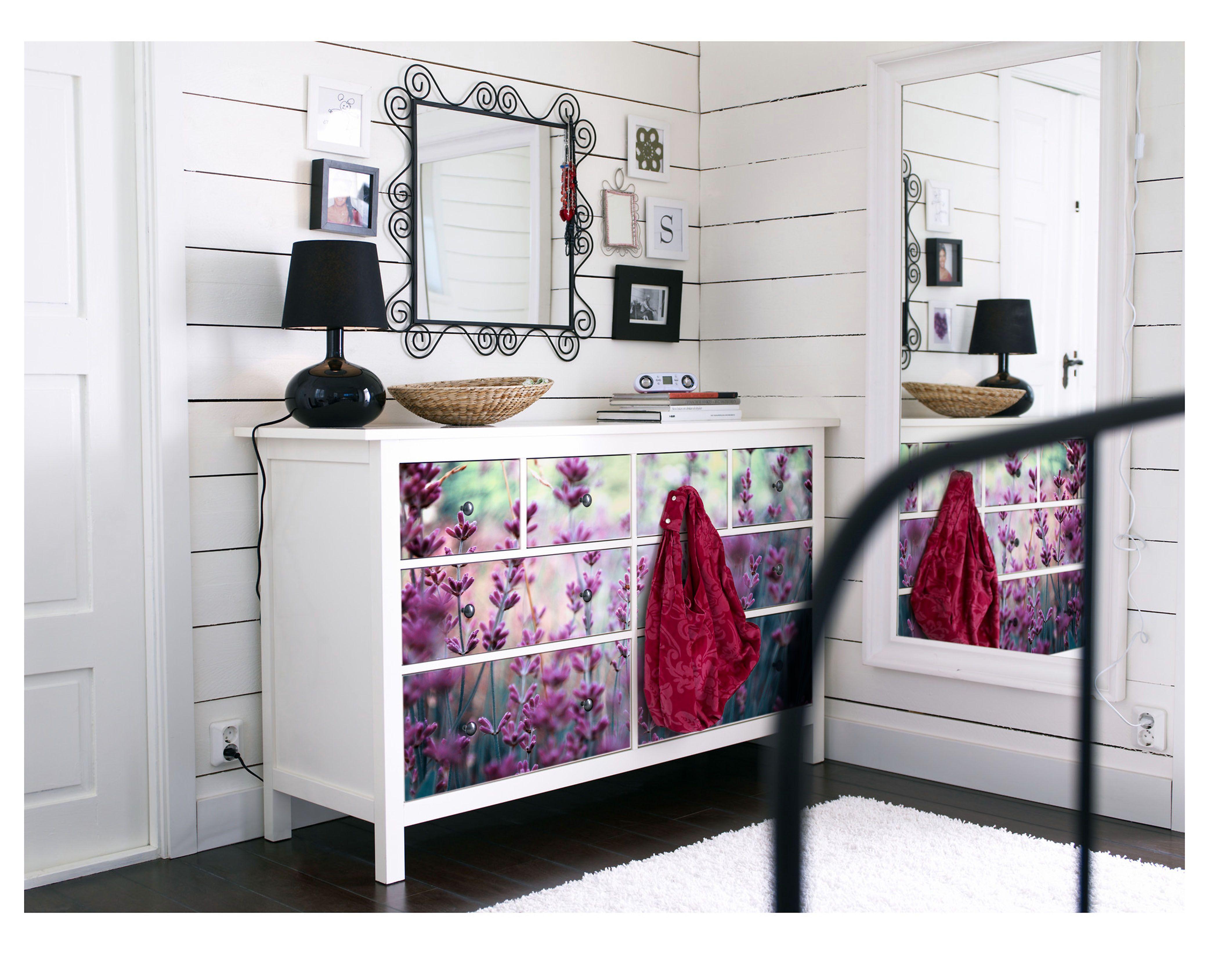 Vinilos para tus muebles de Ikea. Cómoda Hemnes vinilada con tú foto ...
