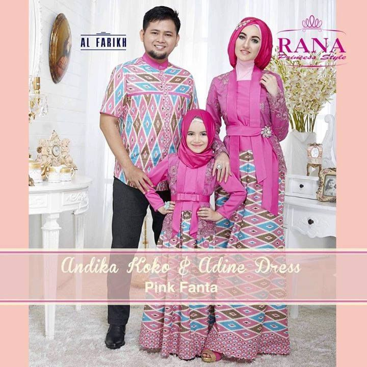 Hasil Gambar Untuk Model Baju Sarimbit Ayah Ibu Anak Gamis Batik