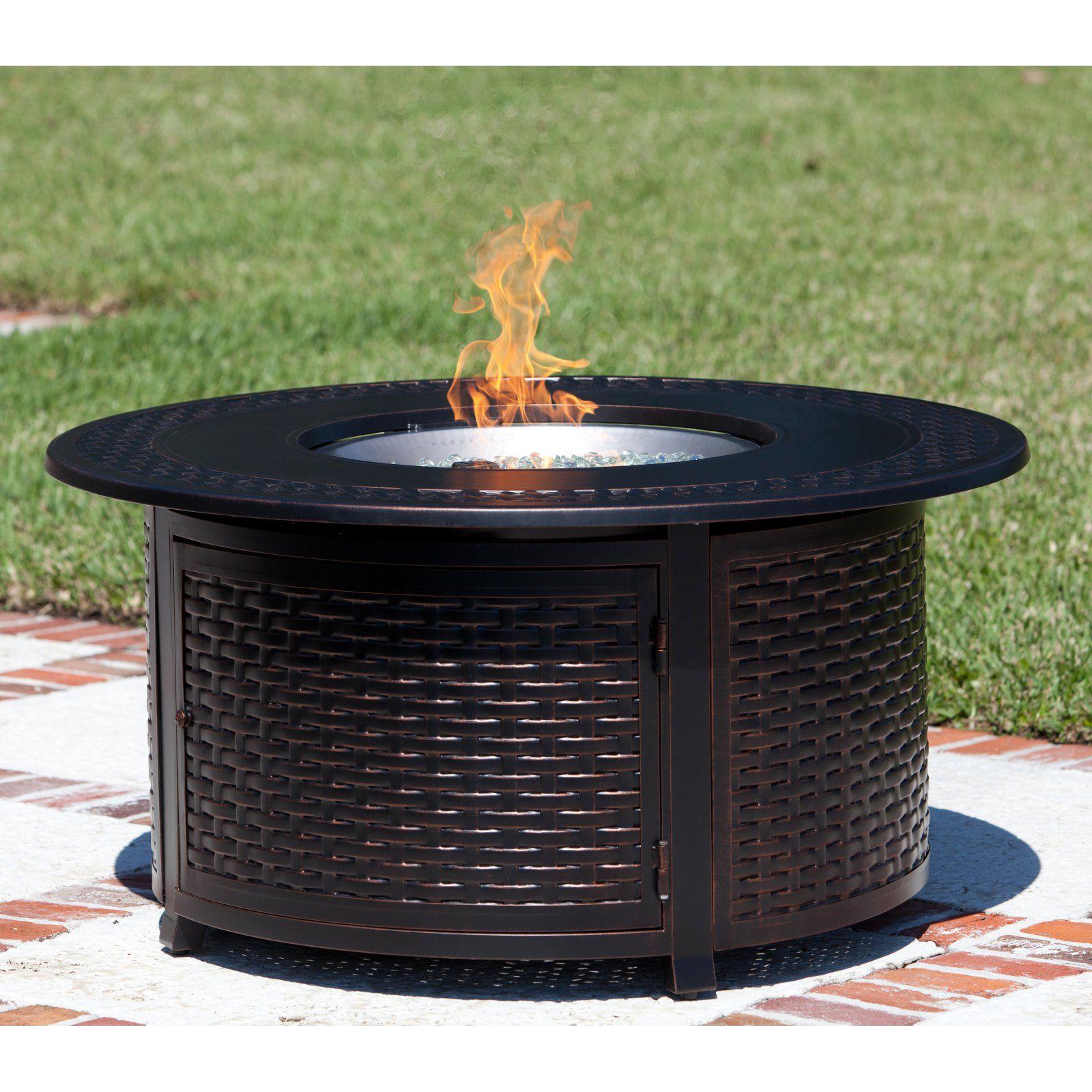 Fire Sense Bellante 44 Diam Fire Table With Free Cover Propane