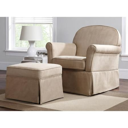 Baby Relax Evan Swivel Glider And Ottoman Beige