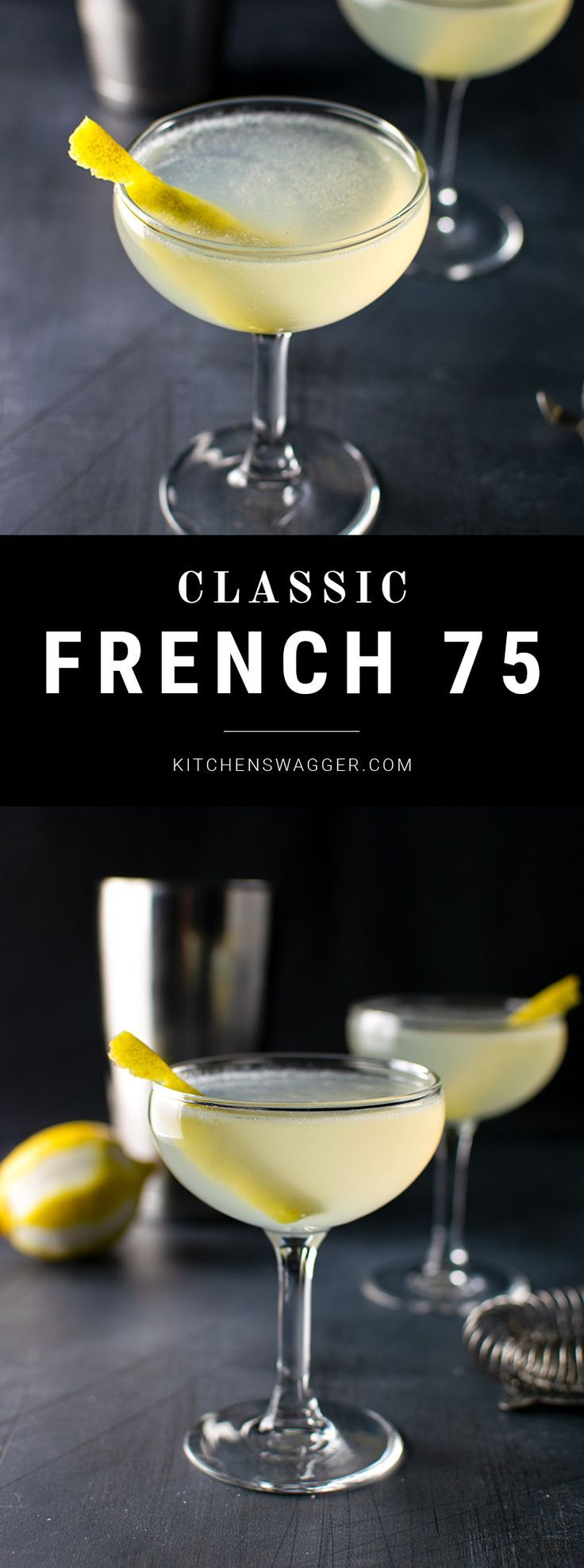 French 75 Cocktail Recipe -