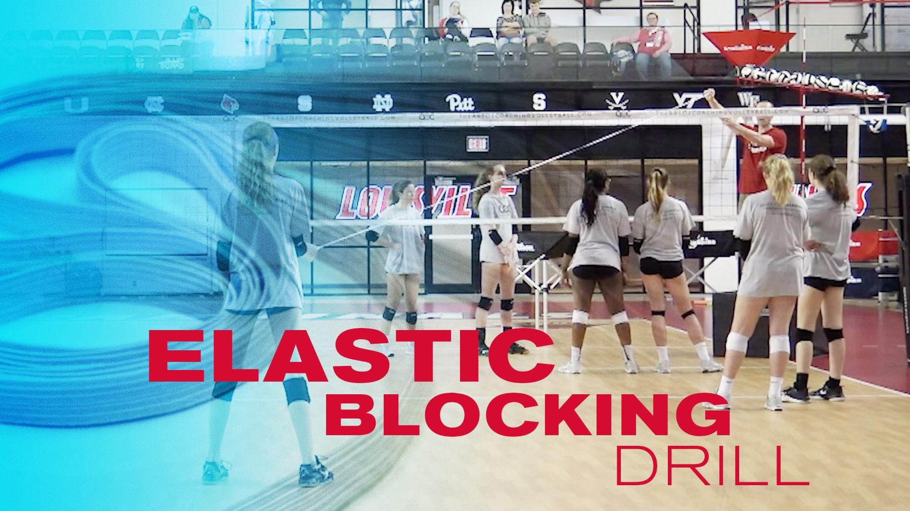Elastic Blocking Drill The Art Of Coaching Volleyball Coaching Volleyball Volleyball Drill