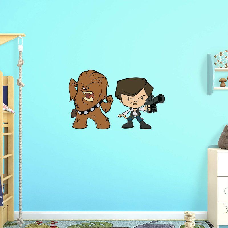 Fathead star wars han solo and chewbacca pop duo wall decal 92 92165