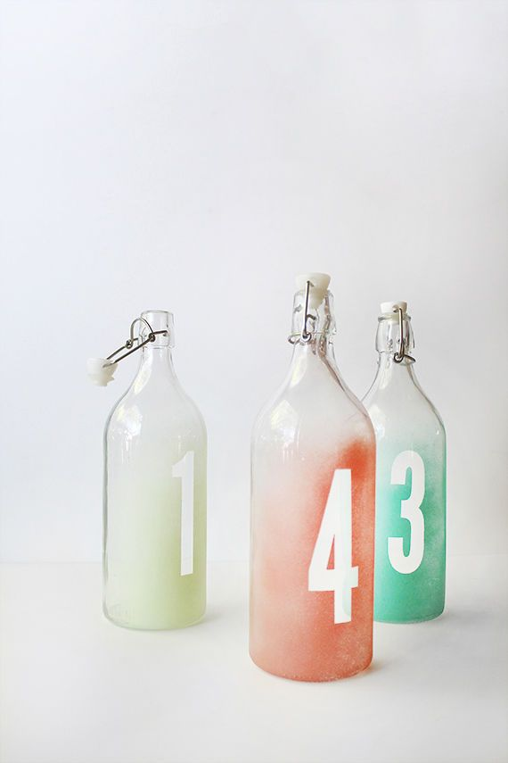 Three materials and four easy steps are all it takes to make this DIY wedding project! These ombre table numbers are great for any modern wedding.
