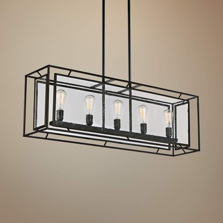Maxim Era 43 1 4 Wide Black Kitchen Island Light Pendant 23y14 Lamps Plus Kitchen Island Lighting Pendant Kitchen Island Lighting Vintage Inspired Interiors
