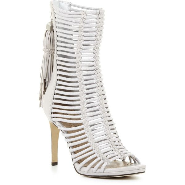 eeb85b8a5a7 BCBGMAXAZRIA Ledder High-Heel Strappy Day Sandal ( 158) ❤ liked on Polyvore  featuring shoes