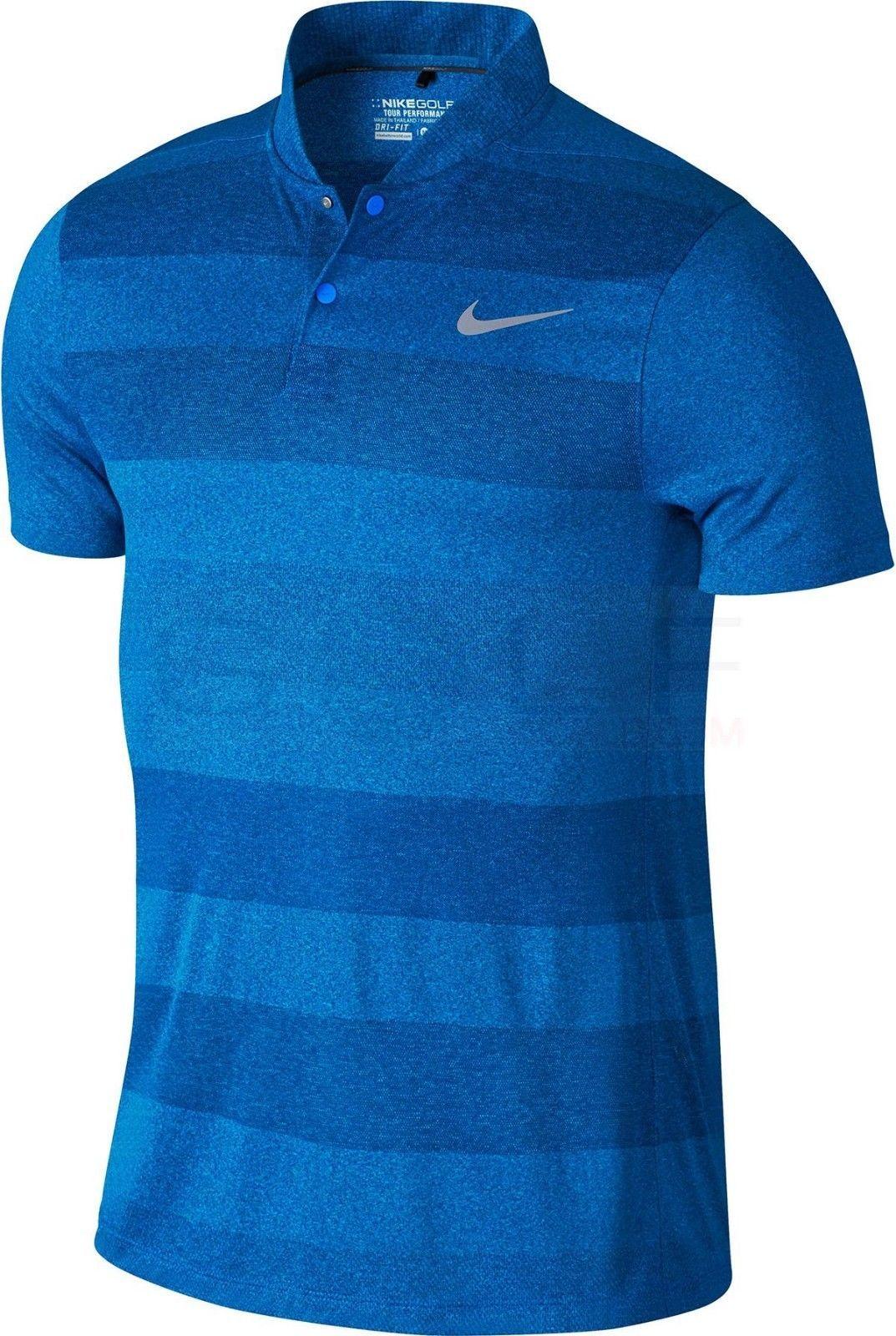 New Nike Mm Fly Blade Polo Golf Shirt Medium Photo Blue Style