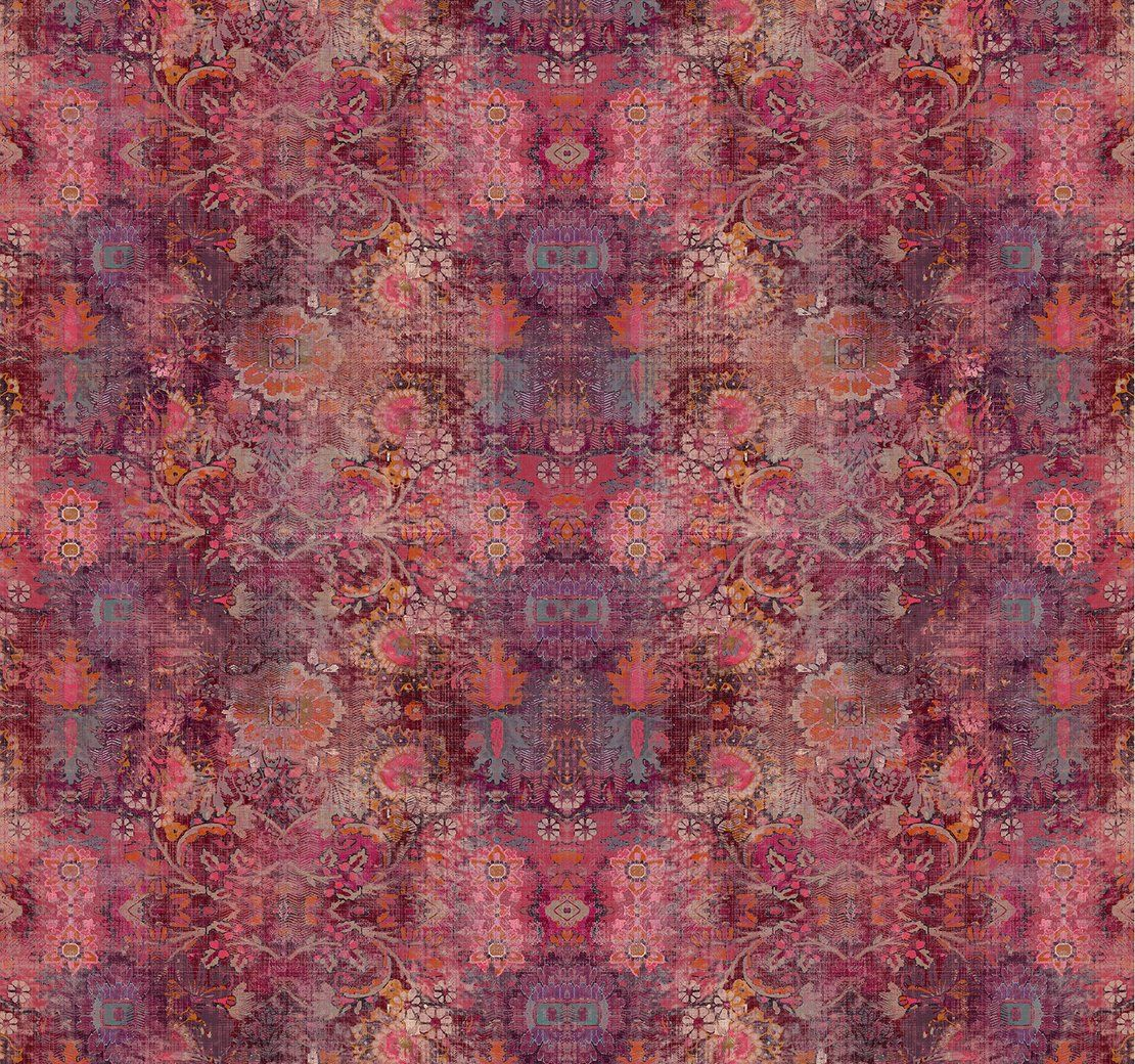 Genie Magenta | Upholstery Fabric | Printed Velvet | Linwood