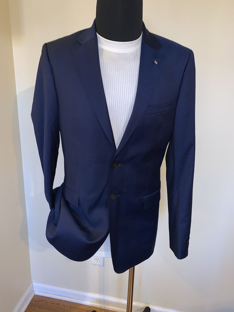 537e5dcfacd9 Ted Baker London Lovely Whistle Men s Dark Blue Suit Jacket Blazer 40L   fashion  clothing  shoes  accessories  mensclothing  suitssuitseparates  (ebay link)