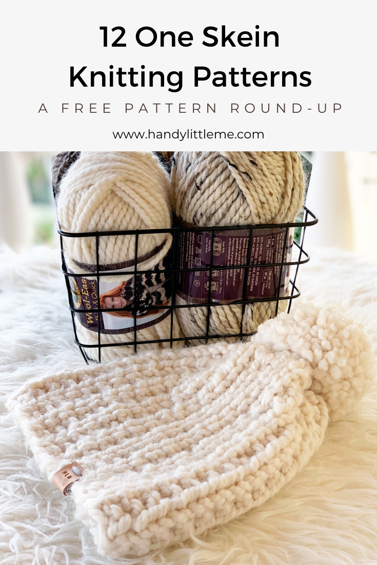 One skein knitting projects