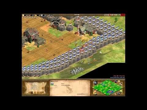 An AoE II rush you may not have seen before: rushing palisade walls.