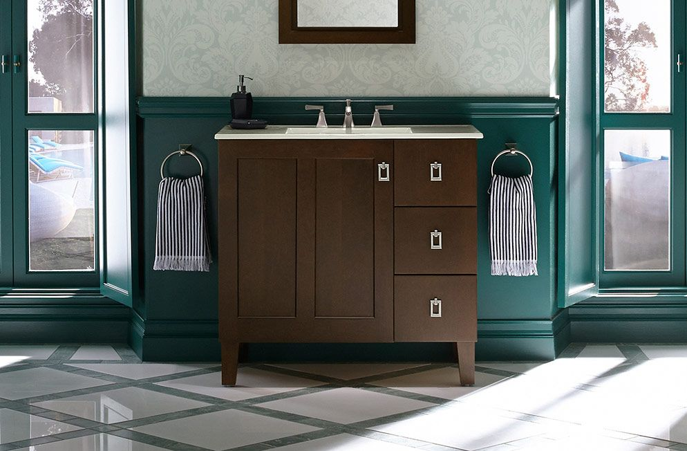 KOHLER | Poplin™ tailored vanity collection | Bathroom Beauty ...