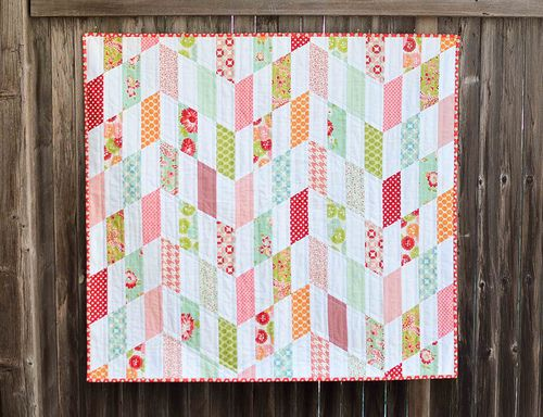 Striped Chevrons Baby Quilt Tutorial Chevron Baby Quilts Baby