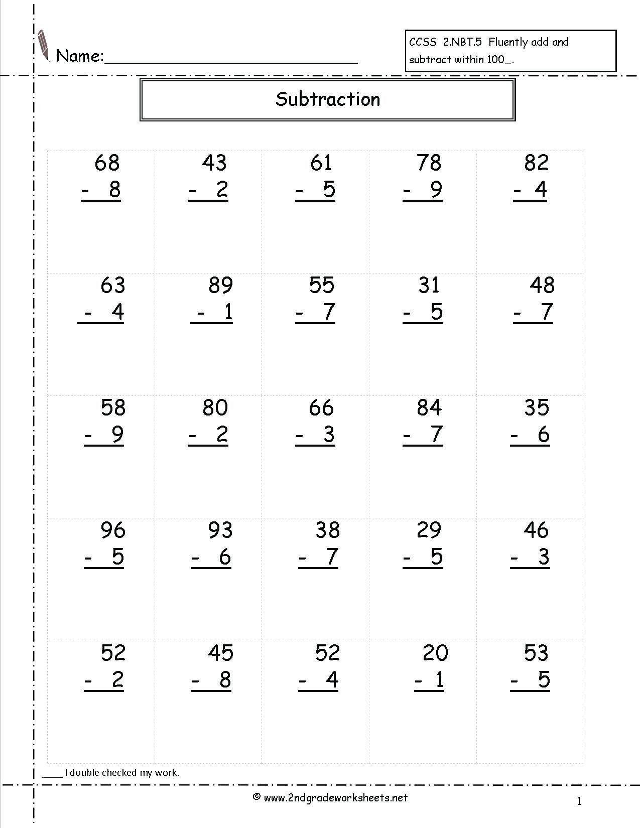 5 Digits Subtraction Worksheet   Printable Worksheets and Activities for  Teachers [ 1650 x 1275 Pixel ]