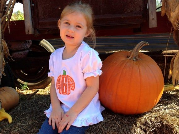 Girls fall oufit , girls pumpkin patch outfit , monogram pumpkin shirt baby girl , personalized fall #pumpkinpatchoutfit